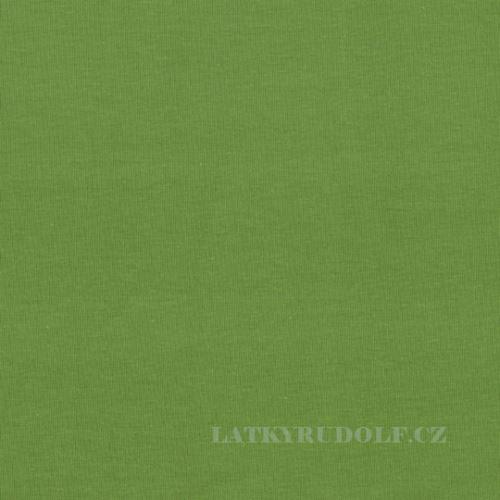 Látka Bavlněný úplet 240g zelený 142023
