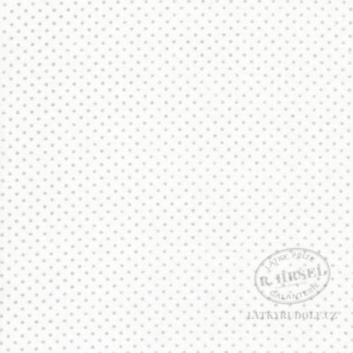 Látka Puntík 1,5mm Pisani stříbrný na bílé 103104