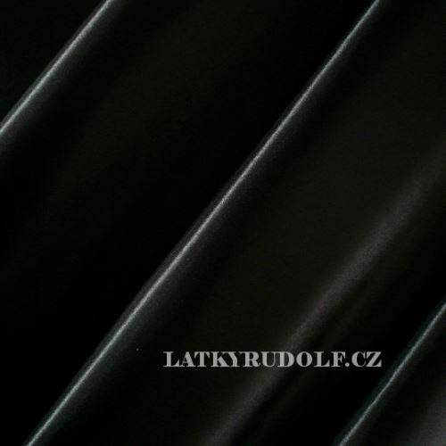 Látka Satén polyester černý 160001