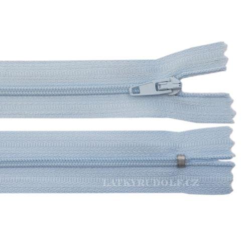 Zip spirálový 3mm nedělitelný 35cm 317K-světle modrá