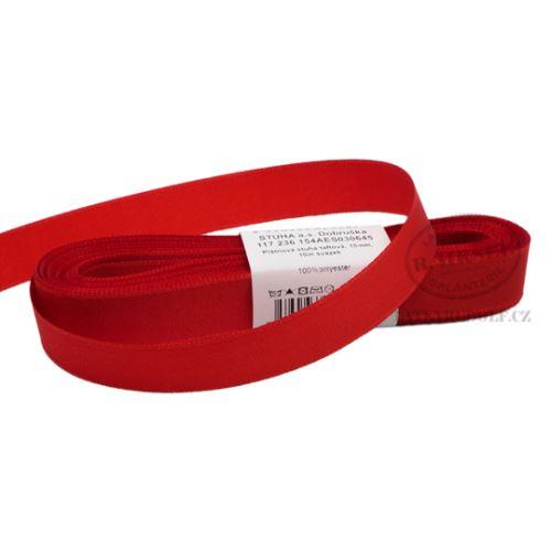 Stuha taftová š.15mm 30645-červená, 10m