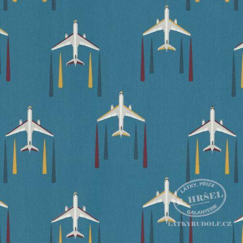 Dekorační látka Letadla 211146