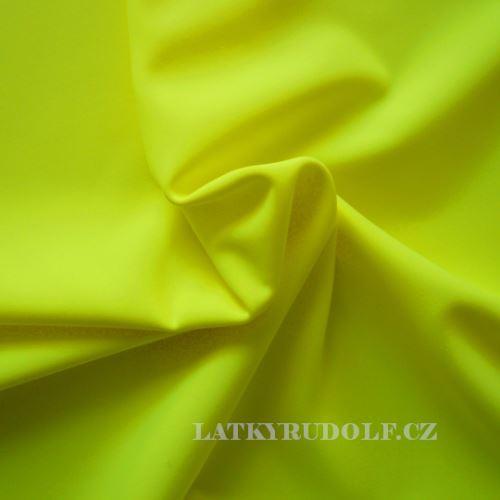 Látka Plavkovina matná žlutá neonová 177021