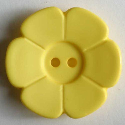 Knoflík Dill 28mm kytka citrónová 289098