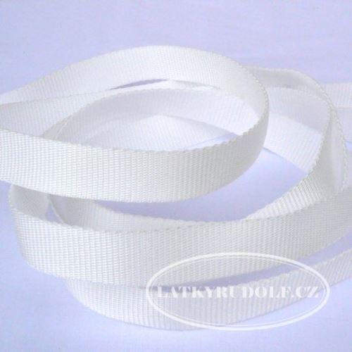Popruh POP 10mm bílý