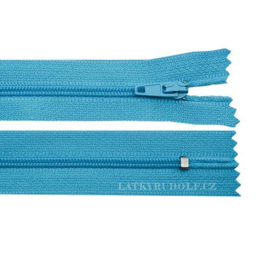 Zip spirálový 3mm nedělitelný 14cm 205L-tyrkysová