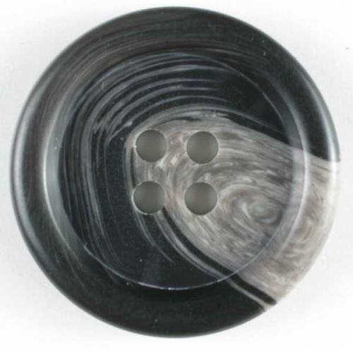 Knoflík Dill 20mm, čtyřd.šedý 230128