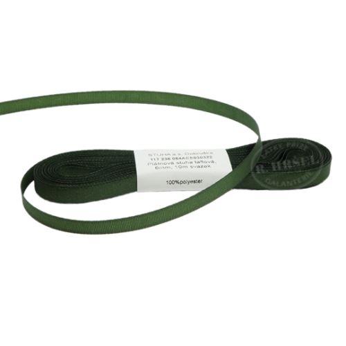 Stuha taftová š.6mm 30322-olivová zeleň