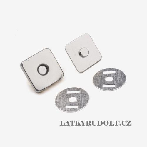 Magnetické zapínání čtvercové 14mm nikl