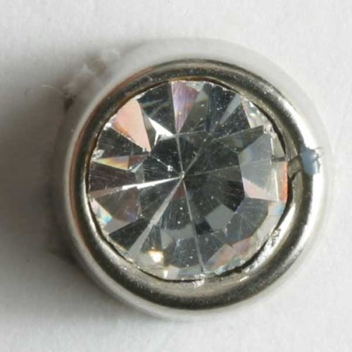 Knoflík Dill 10mm stříbr. s kamínkem 330608