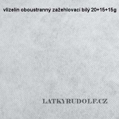 Vlizelín oboustranný zažehlovací bílý 20+15+15g 181120
