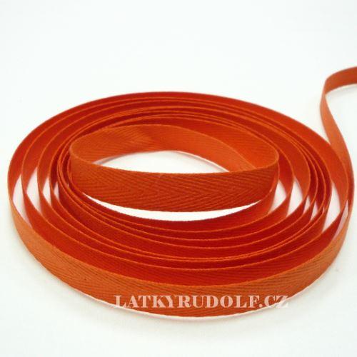 Keprovka - tkaloun šíře 10mm 4302-oranžová