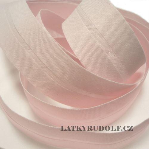 Šikmý proužek 30mm sv.růžový