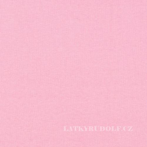 Látka Bavlněný úplet 240g růžový 142212