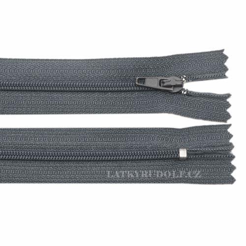 Zip spirálový 3mm nedělitelný 309K-tmavě šedá