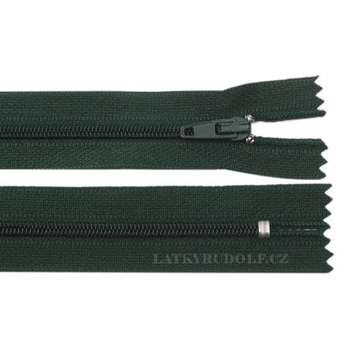 Zip spirálový 3mm nedělitelný 35cm 264K-tmavě zelená