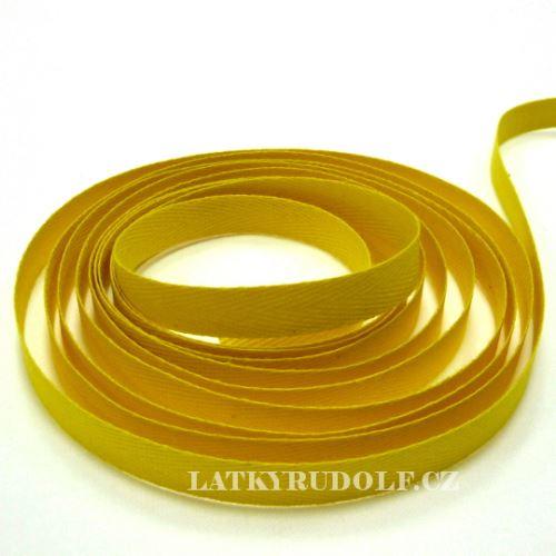 Keprovka - tkaloun šíře 10mm 4202-žlutá