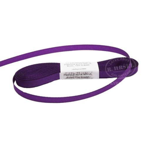 Stuha taftová šíře 6mm 30510-stř.fialová, 10m