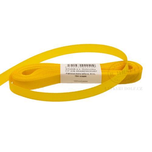 Stuha taftová š.9mm_30207-kanárkově žlutá