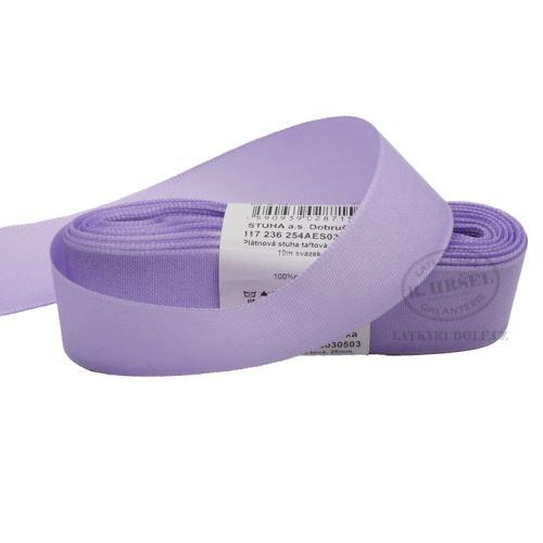 Stuha taftová šíře 25mm 30503-sv. fialová