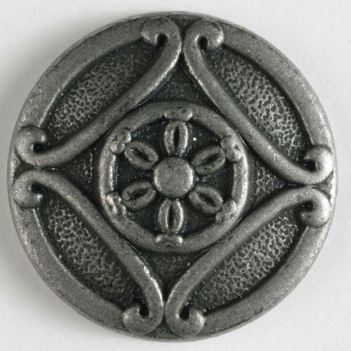 Knoflík Dill 23mm starostříbro 330431