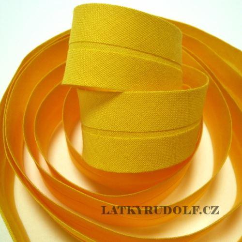 Šikmý proužek 30mm sytě žlutý