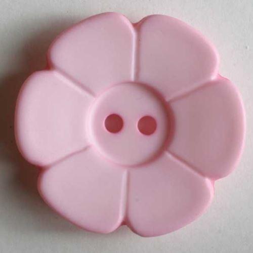 Knoflík Dill 28mm kytka sv.růžová 289093
