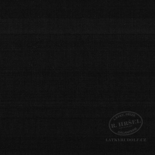 Látka Ramie len černý 168069