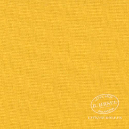 Látka Bavlněný kanvas žlutý 125035