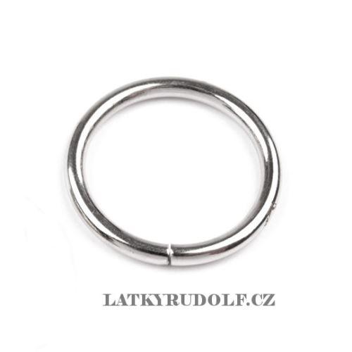 Kroužek kovový 25mm nikl