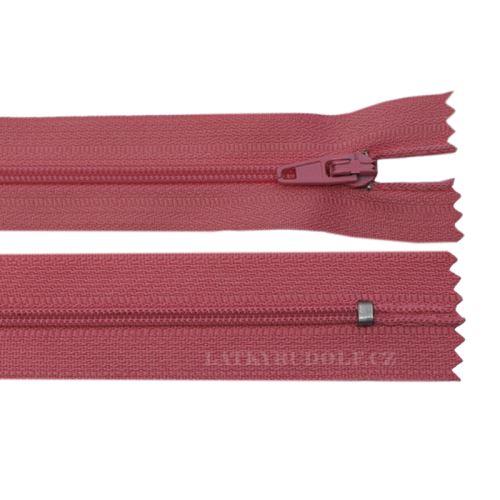 Zip spirálový 3mm nedělitelný 18cm 137L-tmavě růžová
