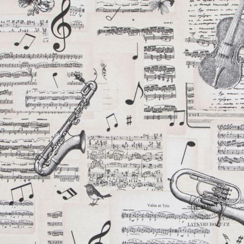 Dekorační Látka hudební 211600