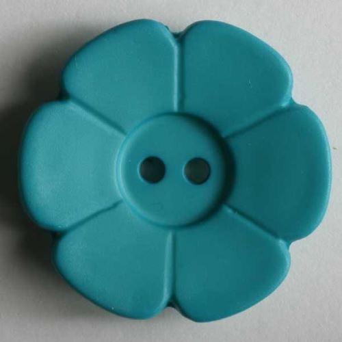 Knoflík Dill 15mm kytička tm.zelená 219091