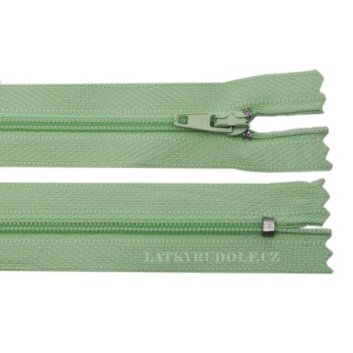 Zip spirálový 3mm nedělitelný 30cm 246L-pistáciová