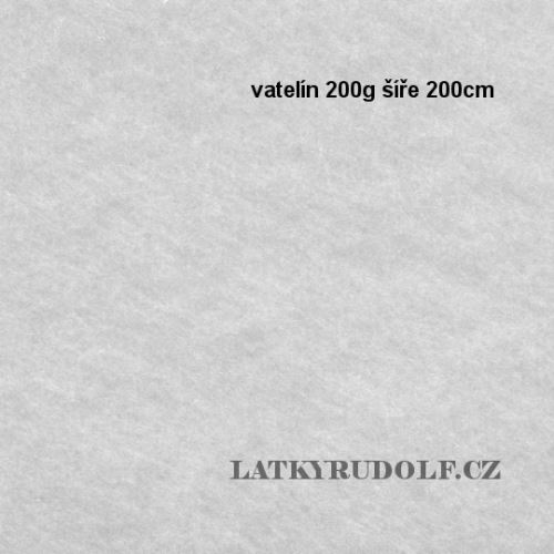 Vatelín 200g šíře 200cm tl.2cm 181206