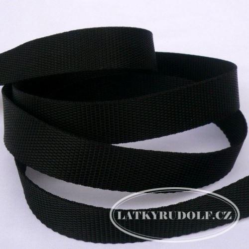 Popruh polyesterový 30mm černý