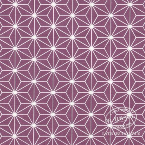 Látka Hvězdice Casual fialovovínové (violine) 103516