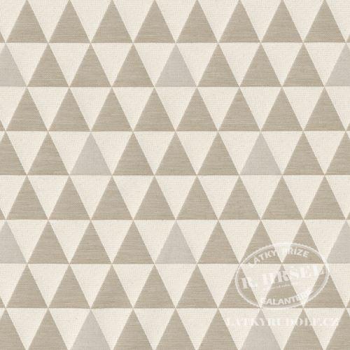 Žakárová látka trojúhelníky béžové 231011