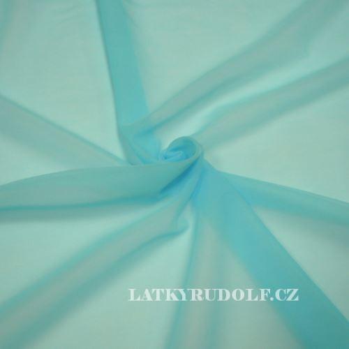 Látka Šifon polyamidový tyrkysový 173205