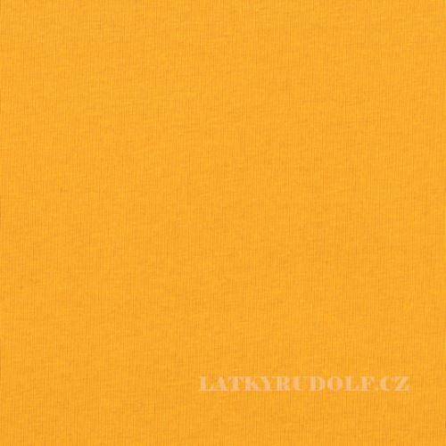 Látka Bavlněný úplet 240g žlutý 142135