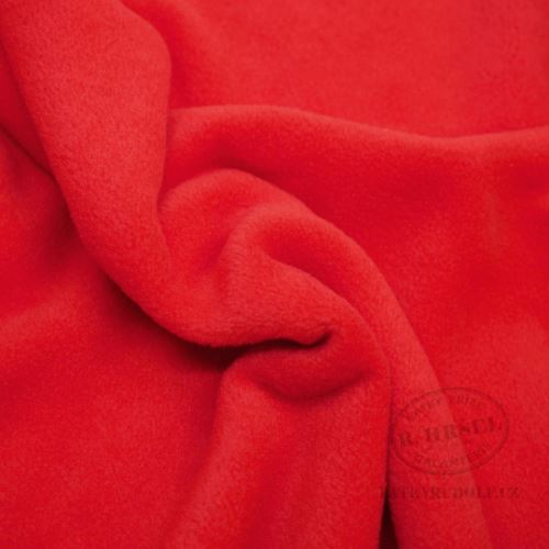 Látka Fleece antipilling uni červený 150013
