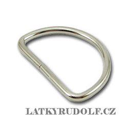 Polokroužek kovový 25mm nikl