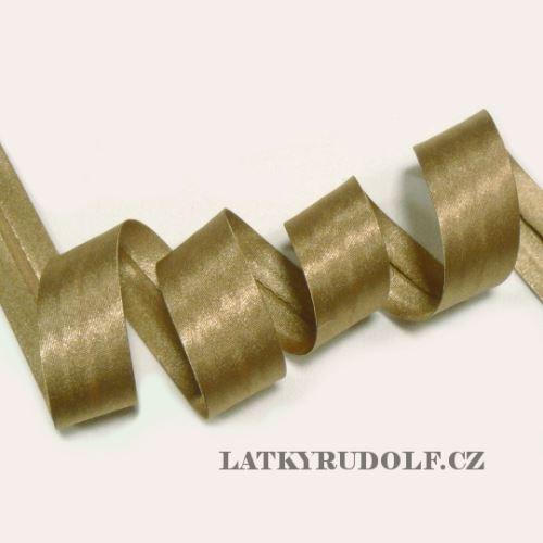 Lemovka saténová 20mm 141038-zlatá