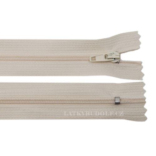 Zip spirálový 3mm nedělitelný 18cm 307L-sv.béžová
