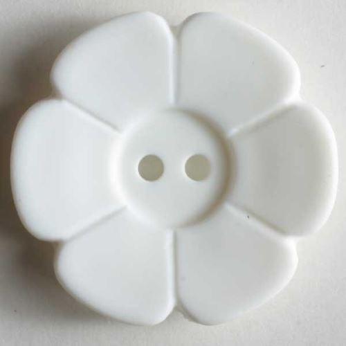 Knoflík Dill 15mm kytička bílá 219076