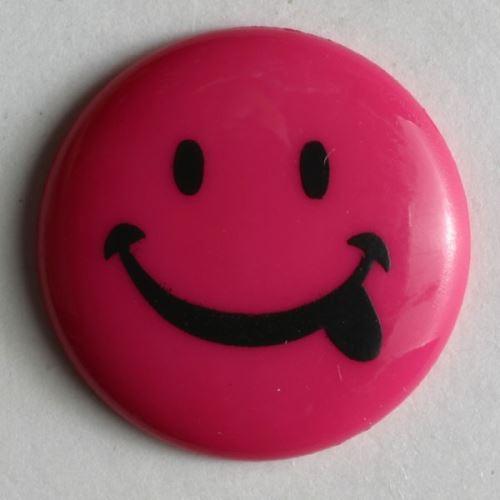 Knoflík Dill 15mm smajlík růžová 211080