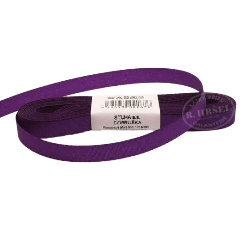 Stuha taftová š.9mm_30510-středně fialová