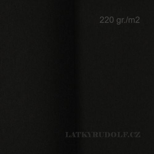 Látka Bavlněný úplet 220g černý 142530