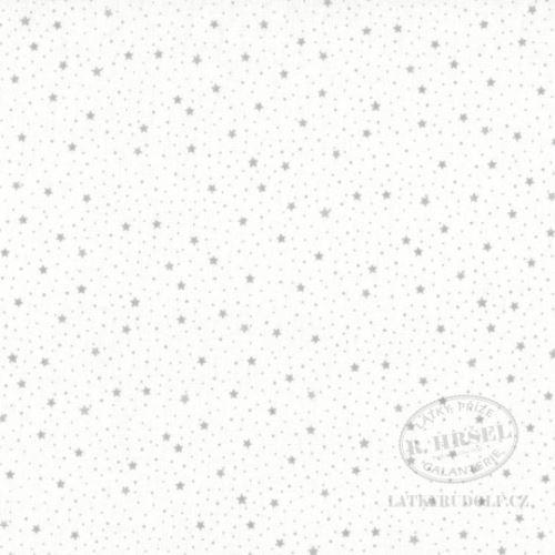 Látka Hvězdičky šedé 103361