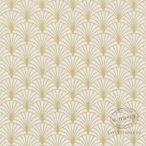 Dekorační látka zlatý ornament 102960